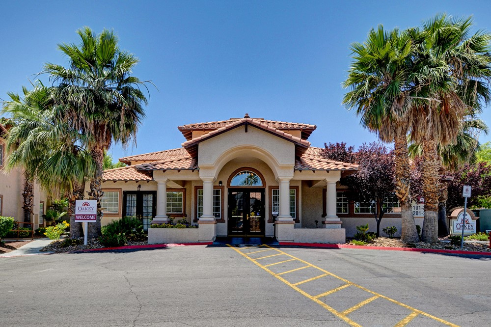 Front entrance to Las Vegas assisted living community Oakey Assisted Living.